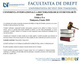 CONFERINTA INTERNATIONALA TIMISOARA