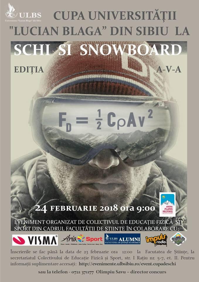 CUPA DE SCHI SI SNOWBOARD ULBS
