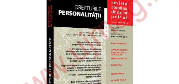 Revista romana de drept privat nr. 4/2017