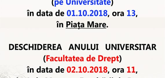 Deschidere an universitar 2018-2019