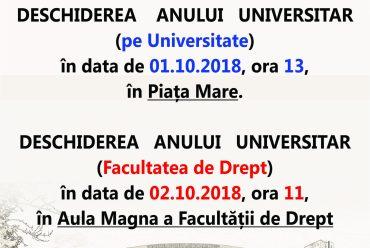 Deschidere an universitar 2018-2019