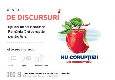 """Ambasada S.U.A. – Concurs de discursuri """"Nu Corupției înseamnă…"""""""