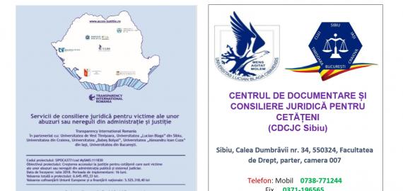 ORAR – LUNA OCTOMBRIE, 2019 – CENTRUL DE DOCUMENTARE ȘI CONSILIERE JURIDICĂ PENTRU CETĂȚENI (CDCJC SIBIU)