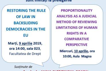 Prelegeri – Facultatea de Drept