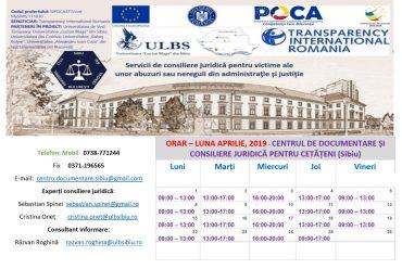 CENTRUL DE DOCUMENTARE ȘI CONSILIERE JURIDICĂ PENTRU CETĂȚENI  (CDCJC SIBIU)