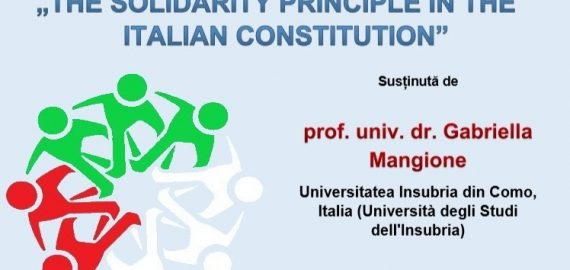 Prelegere – The Solidarity Principle In The Italian Constitution