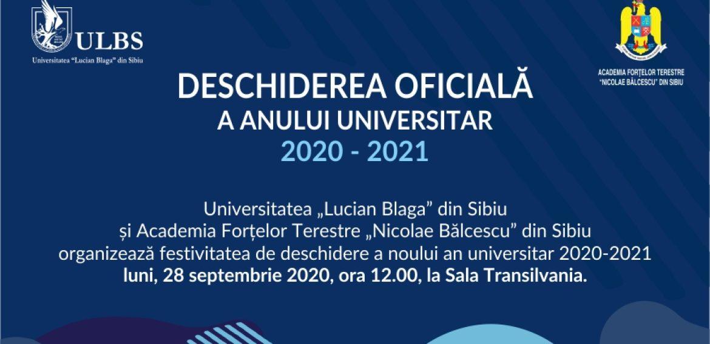 Deschiderea anului universitar 2020-2021 la ULBS