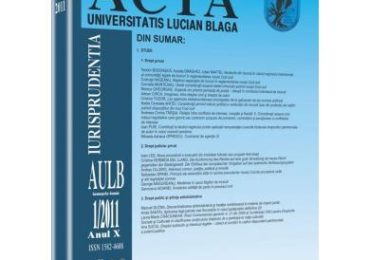Revista Acta Universitatis Lucian Blaga nr. 1/2011