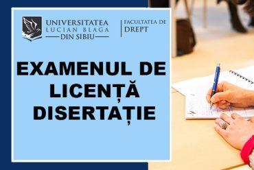 Rezultate examen licență/disertație februarie 2021